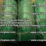 Safety Glazing Green Tape to fix pre-laminated glass with EVA PVB TPU SGP interlayer film (16)