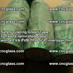 Safety Glazing Green Tape to fix pre-laminated glass with EVA PVB TPU SGP interlayer film (19)