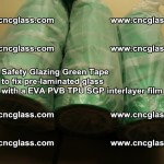 Safety Glazing Green Tape to fix pre-laminated glass with EVA PVB TPU SGP interlayer film (20)