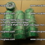 Safety Glazing Green Tape to fix pre-laminated glass with EVA PVB TPU SGP interlayer film (3)