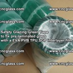 Safety Glazing Green Tape to fix pre-laminated glass with EVA PVB TPU SGP interlayer film (63)