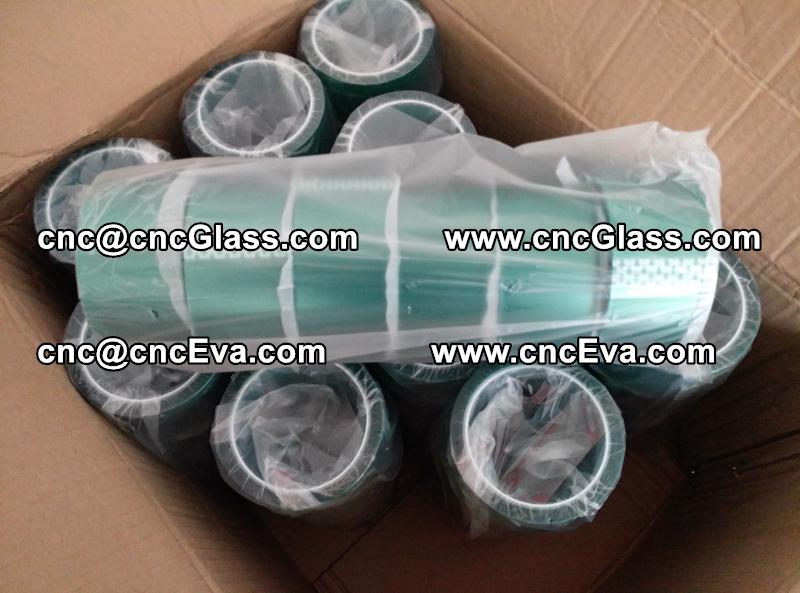 eva lami tape High temperature green silicone PET tape (1)