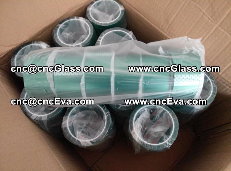 eva lami tape High temperature green silicone PET tape (2)